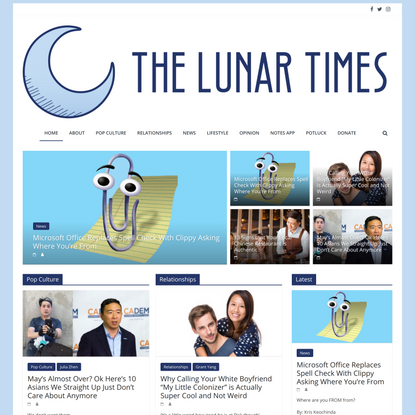 The Lunar Times - A Satirical News Site For All Asian Americans