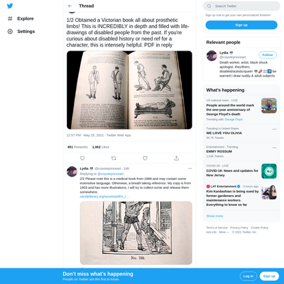 """Lydia 💀 on Twitter: """"1/2 Obtained a Victorian book all about prosthetic limbs! This is INCREDIBLY in depth and filled with l..."""