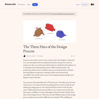 The Three Hats of the Design Process