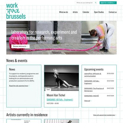 Laboratory for artistic innovation - workspacebrussels