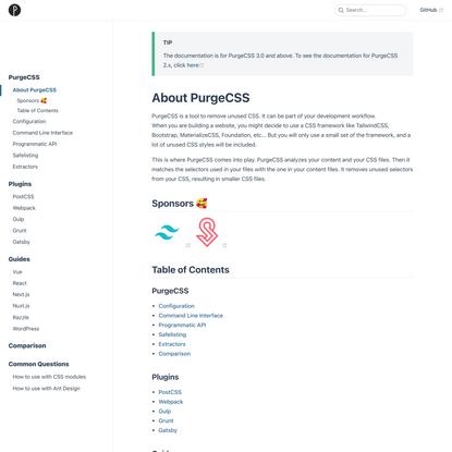 Remove unused CSS - PurgeCSS