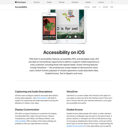 Accessibility on iOS - Apple Developer