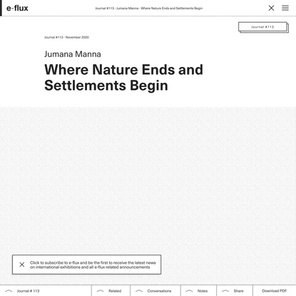 Where Nature Ends and Settlements Begin