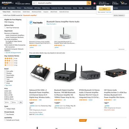 Amazon.ca : bluetooth amplifier