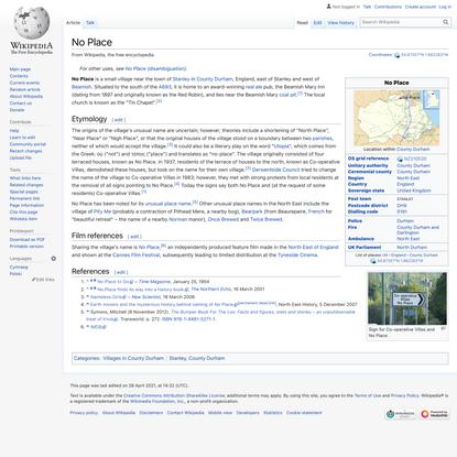No Place - Wikipedia