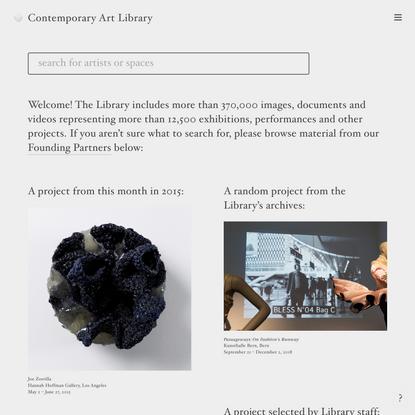 Contemporary Art Library