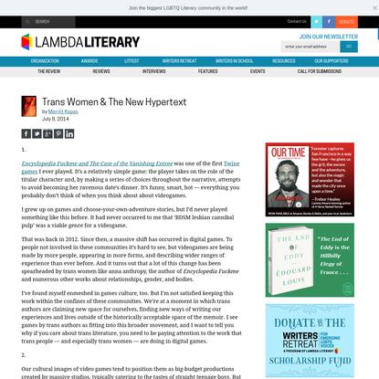 Trans Women & The New Hypertext