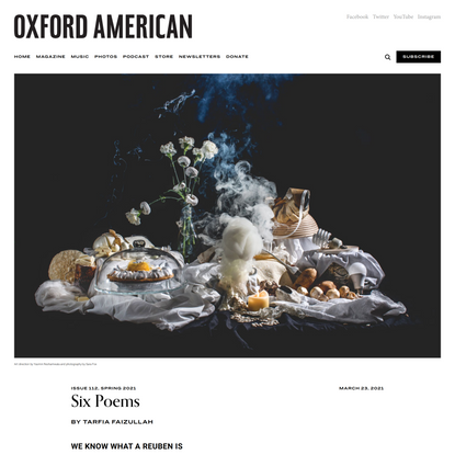 Oxford American   Six Poems