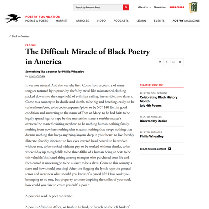The Difficult Miracle of Black Poetry in America… | Poetry Foundation