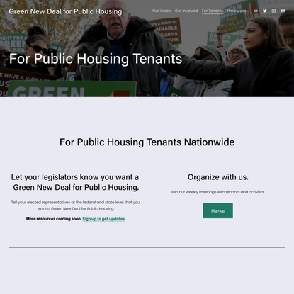 For Public Housing Tenants — Green New Deal for Public Housing