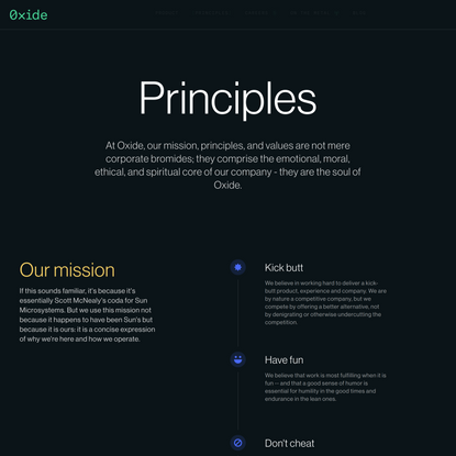 Oxide / Principles