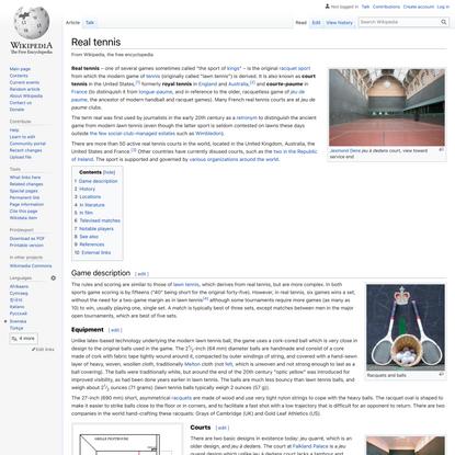 Real tennis - Wikipedia
