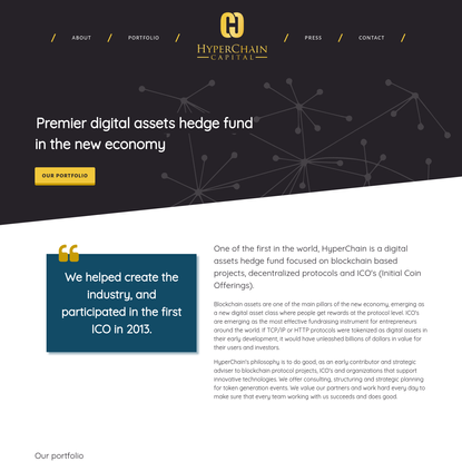 HyperChain Capital | Digital assets hedge fund in the new economy