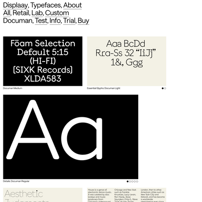 Documan - Displaay Type Foundry
