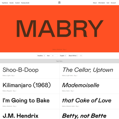 Mabry — Colophon Foundry