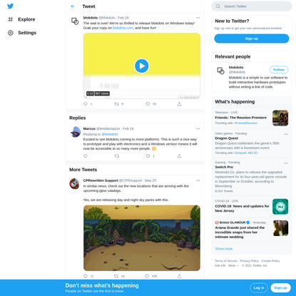 """blokdots on Twitter: """"The wait is over! We're so thrilled to release blokdots on Windows today! Grab your copy on https://t...."""