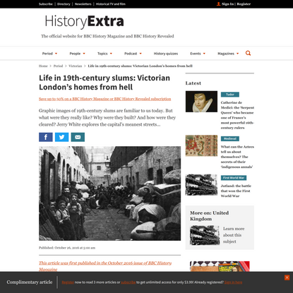 Life in 19th-century slums: Victorian London's homes from hell