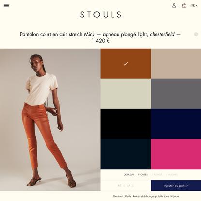 STOULS - Pantalon court en cuir stretch Mick