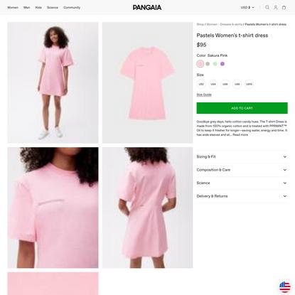 Pastels Women's t-shirt dress—sakura pink
