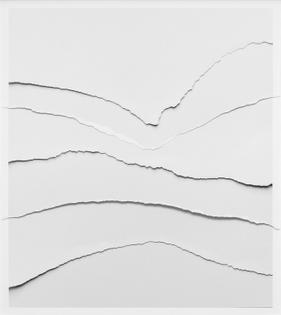 Vik Muniz: Five Rips, 2018 paper, collage