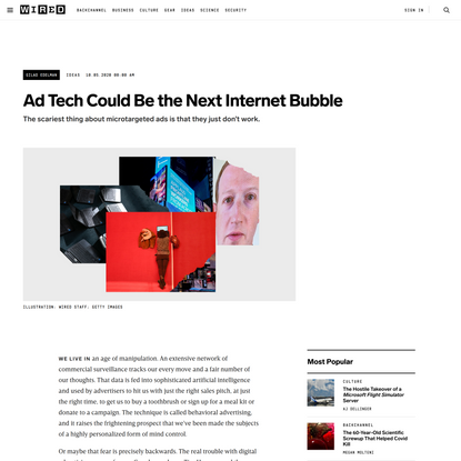 Ad Tech Could Be the Next Internet Bubble