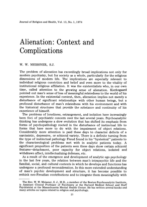 journal-of-religion-and-health-volume-13-issue-1-1974-[doi-10.1007_bf01532667]-w.-w.-meissner-alienation-context-and-complic...