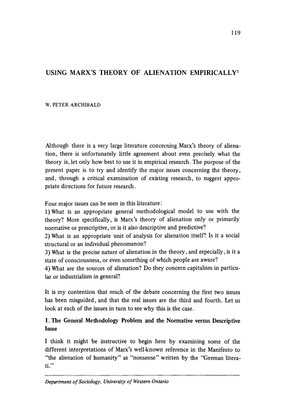 theory-and-society-volume-6-issue-1-1978-[doi-10.1007_bf01566160]-w.-peter-archibald-using-marx-s-theory-of-alienation-empir...