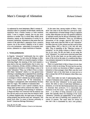 topoi-volume-15-issue-2-1996-[doi-10.1007_bf00135387]-richard-schmitt-marx-s-concept-of-alienation.pdf