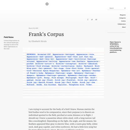 Frank's Corpus - Open Space