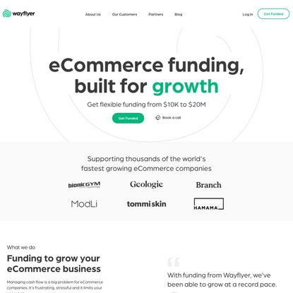 eCommerce Financing   Get an Offer Today   Wayflyer
