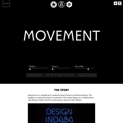 Movement typeface – a variable font by NM type