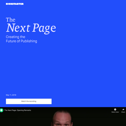 The Next Page: Creating the Future of Publishing