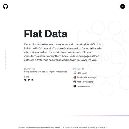GitHub OCTO   Flat Data