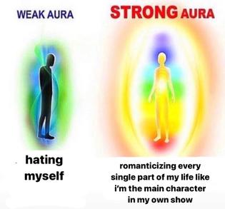 weak aura strong aura