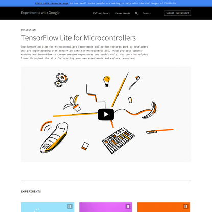 TensorFlow Lite for Microcontrollers - Experiments with Google