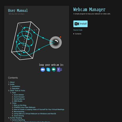 User Manual: Webcam Manager