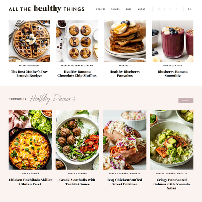 Healthy Living Blog | Simple, Easy, and Quick Recipes | Healthy Eating Lifestyle | All the Healthy Things