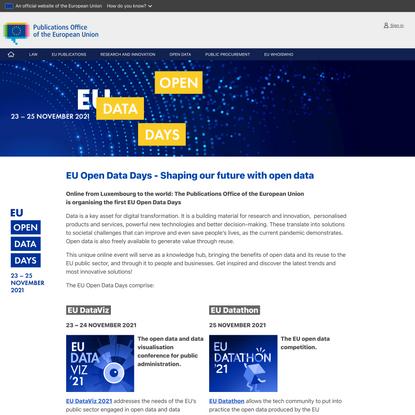 EU Open Data Days 2021 - EU Open Data Days - Publications Office of the EU