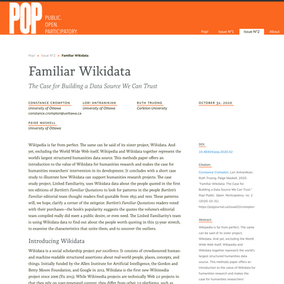 Pop! Familiar Wikidata
