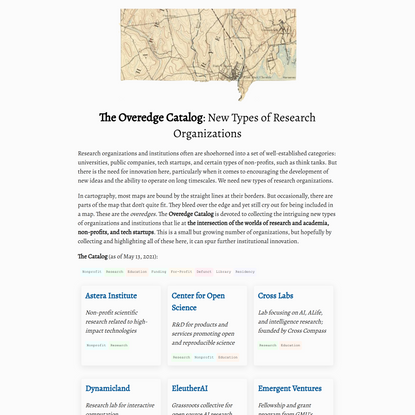 The Overedge Catalog: The Future of Research Organizations