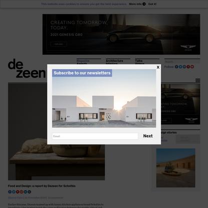 Food and Design: a report by Dezeen for Scholtès | Dezeen
