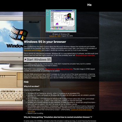 Windows 95 in your browser
