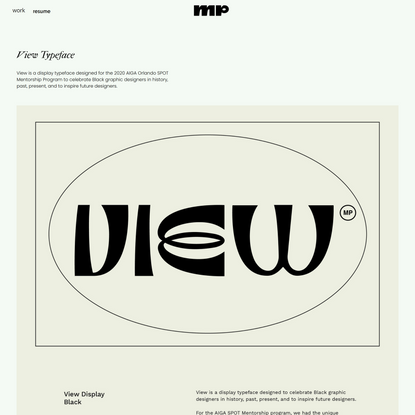 Mirna Pierre - View Typeface
