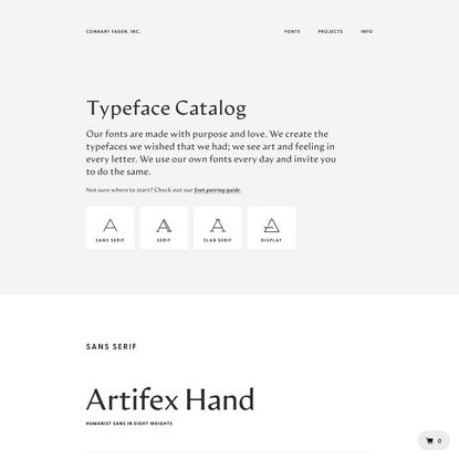 Connary Fagen:Font Catalog