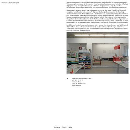Bureau Grusenmeyer | Info