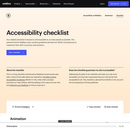 Accessibility checklist   Webflow
