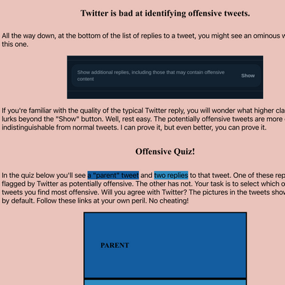 Twitter is Bad Offensively