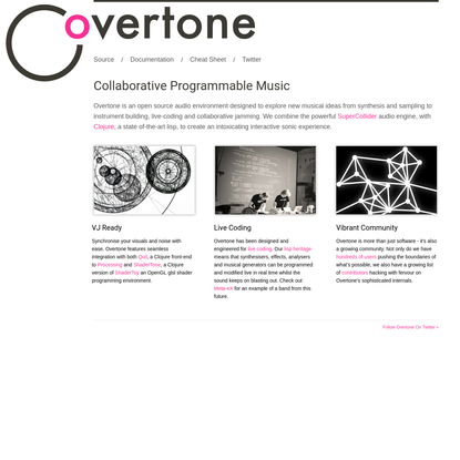 Overtone - Collaborative Programmable Music