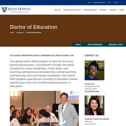 Doctor of Education | JHU School of Education