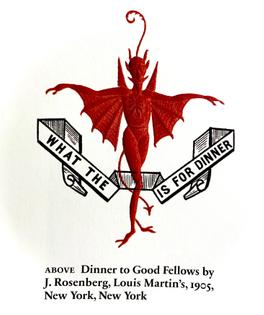 Dinner to Good Fellows by J. Rosenberg
